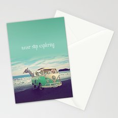 NEVER STOP EXPLORING THE BEACH Stationery Cards