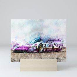 Jaguar XJR 12, Silk Cut Mini Art Print