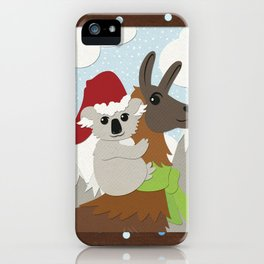 Koa-Llama Holidays iPhone Case