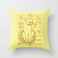 friendship Throw Pillows featuring Friendship by Sarinya  Withaya