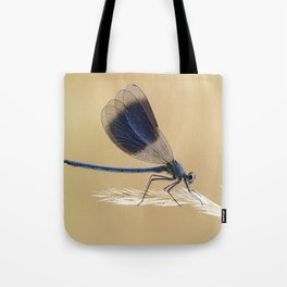 Banded Demioselle On Grass Tote Bag