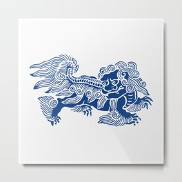 Lucky Lion Metal Print