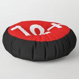 Advisory Warning Label Age Restriction 18 Floor Pillow