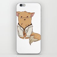 pomeranian iPhone & iPod Skins featuring Doctor Pomeranian by Wafflesdrawsthings