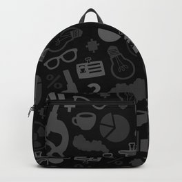 Grey and Black Science Pattern Backpack