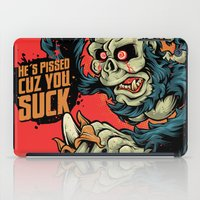dave grohl iPad Cases featuring Evil Dave by Bob Mosquito