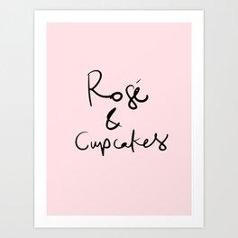 Rose & Cupcakes Art Print