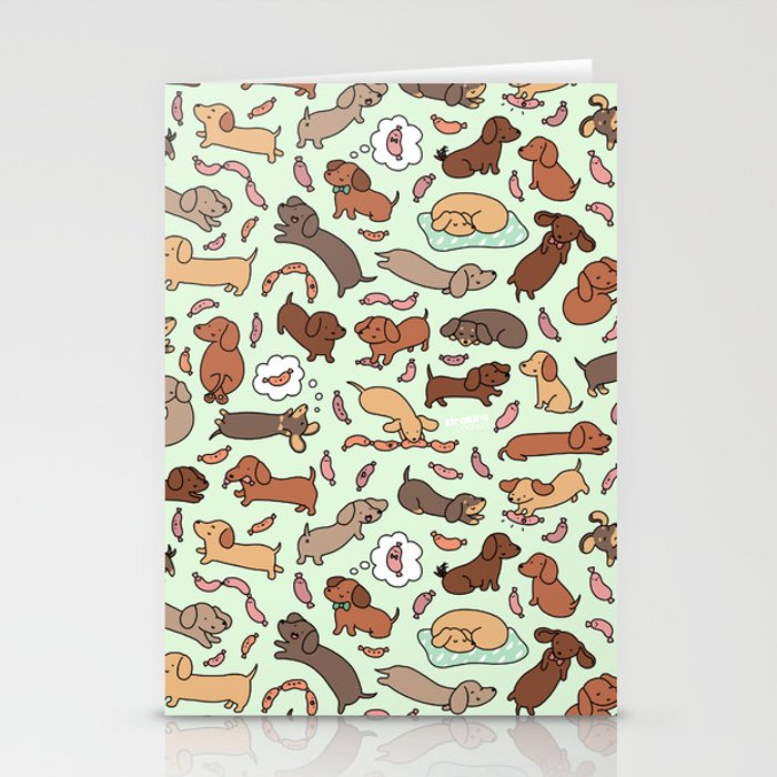 Wiener Dog Wonderland Stationery Cards