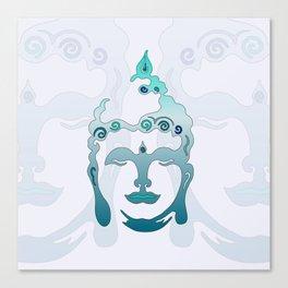 Buddha Head turquoise II Canvas Print