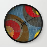 it crowd Wall Clocks featuring Crowd by Metron