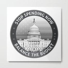 Balance The Budget Metal Print
