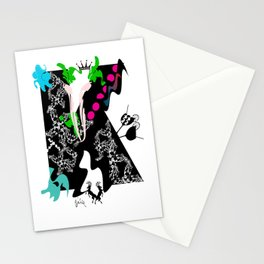 K Initial  Stationery Cards