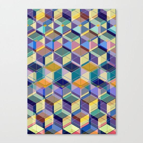 Cube Geometric VIII Canvas Print