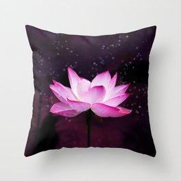 magical lotus Throw Pillow