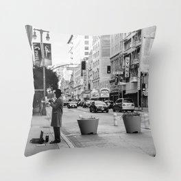 Los Angeles Jazz Throw Pillow