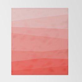 Diagonal Living Coral Gradient Throw Blanket
