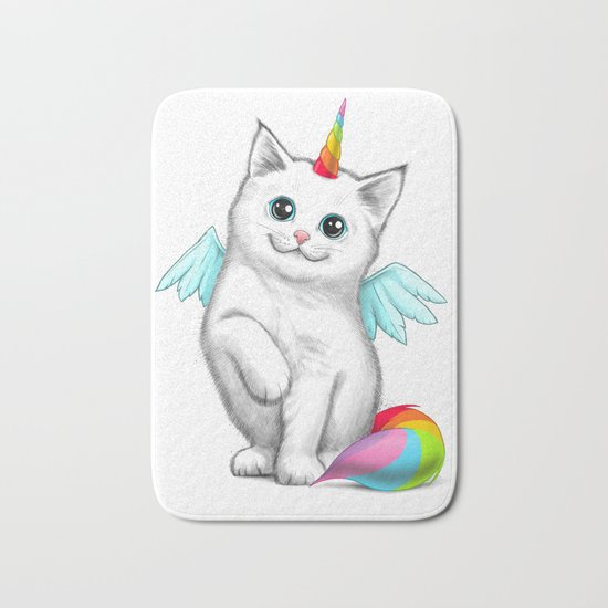 Cat unicorn Bath Mat