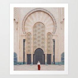 Hassan II Mosque, Casablanca Art Print