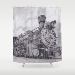 Durango and Silverton Steam Engine Shower Curtain