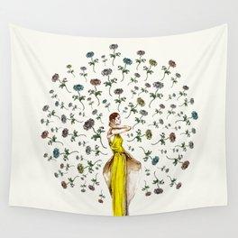 Paris Summer   The Flower Girl Wall Tapestry