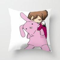 kawaii Throw Pillows featuring kawaii by Grim99