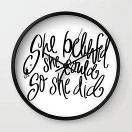 So She Did. Wall Clock