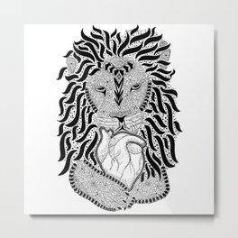 Lion Heart Metal Print