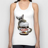nutella Tank Tops featuring Sweet aim // galago and nutella by Anna Shell