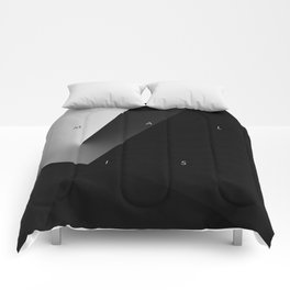History of Art in Black and White. Minimalism Comforters
