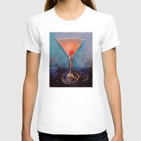 martini T-shirts featuring Pink Lemonade Martini by Michael Creese