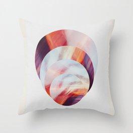 Sunset Circles New Zealand Throw Pillow