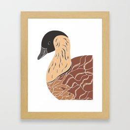 Nene Goose Framed Art Print
