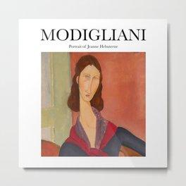 Modigliani - Portrait of Jeanne Hebuterne Metal Print