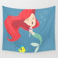 ariel Wall Tapestries featuring Ariel by Rod Perich