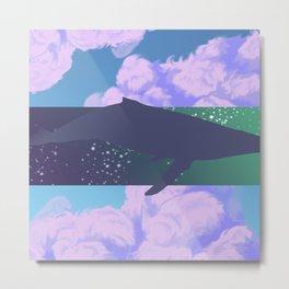 fantasy whale Metal Print