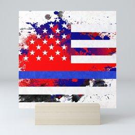 Thin Blue Line Police Lives Matter Mini Art Print