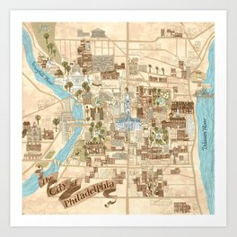 The City of Philadelphia Art Print