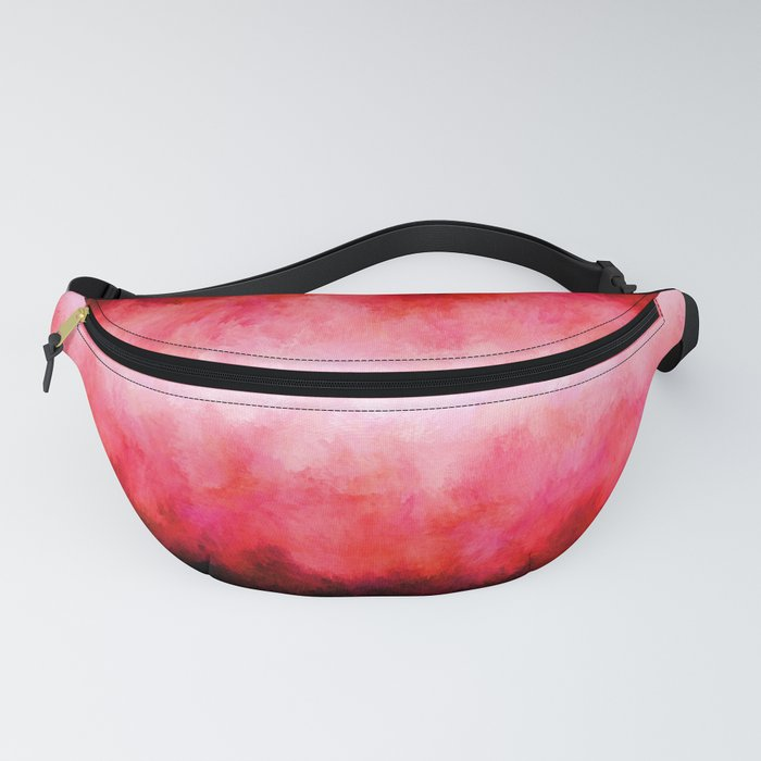 Red Black Fireworks Fanny Pack