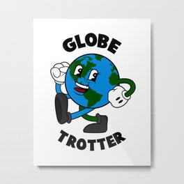 Globe Trotter Metal Print