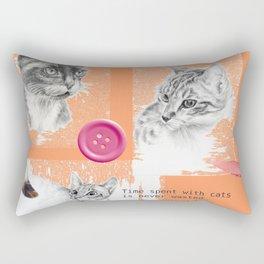 Cats and psychoanalysis Rectangular Pillow
