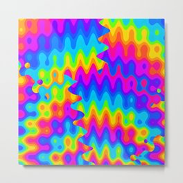 Amazing Acid Rainbow Metal Print