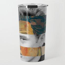 Egon Schiele's Self Portrait in a Striped Shirt & James D. Travel Mug