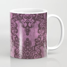 Rustic Purple Damask Pattern Coffee Mug