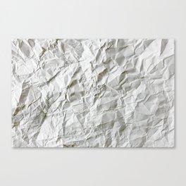 Wrinkled paper sheet Canvas Print