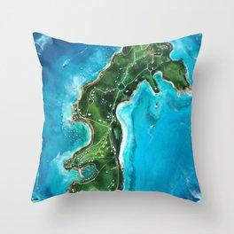 Water Island Map Throw Pillow