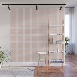 Spring 2017 Designer Color Pale Pink Dogwood Tartan Plaid Check Wall Mural