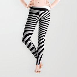 Black and White Pop Art Optical Illusion Leggings