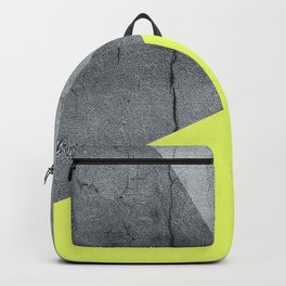 Neon Yellow On Concrete Backpack
