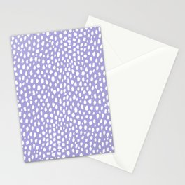 Periwinkle Spots Pattern (white/periwinkle) Stationery Cards