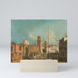 Francesco Albotto - View of the Square and the Door to the Arsenal Mini Art Print